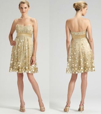 Badgley Mischka Platinum Label Strapless Cocktail Dress