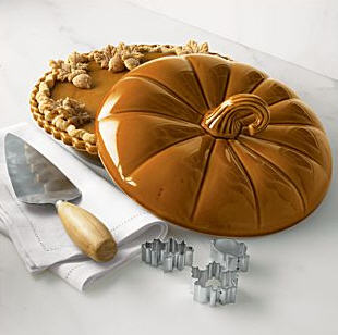 & Covered Pumpkin Pie Dish