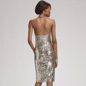 Donna Karan Low Back Sequin Dress