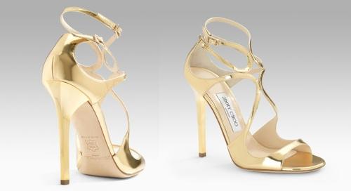 Jimmy Choo Lance Mirrored Sandals