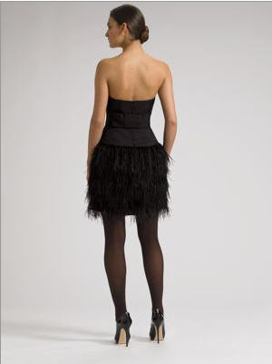 Milly Ostrich Fringe Dress