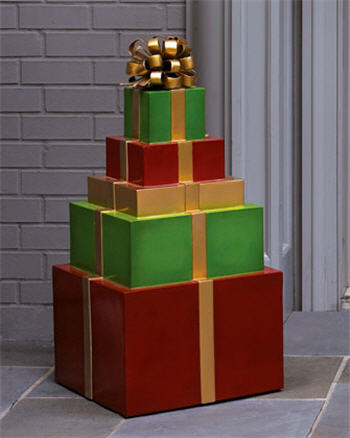 """Stacked """"Gift-Wrapped"""" Packages"""