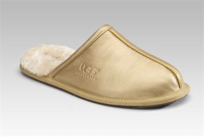 UGG Australia Pearlized Leather Slippers