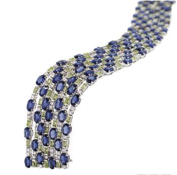 Birks Cinema Collection Sapphire and Peridot Bracelet
