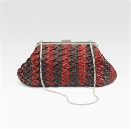 Dolce & Gabbana Miss Curly Pleated Clutch