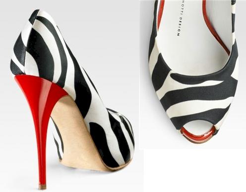 Giuseppe Zanotti Zebra Peep-Toe Pumps