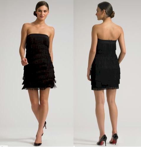 Jay Godfrey Strapless Fringe Dress