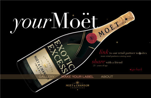 Exotic Excess Moet & Chandon Champagne