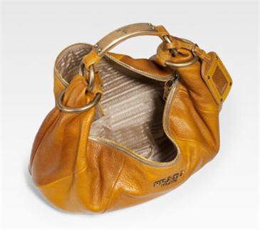 Prada Cervo Tamponato Hobo Handbag
