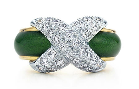 Tiffany & Co. Jean Schlumberger Pave X Ring