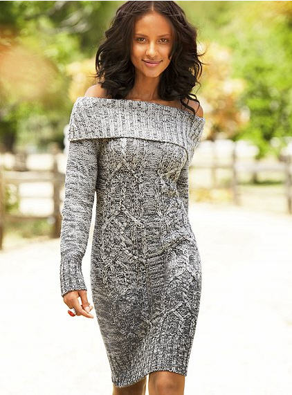 Victoria's Secret Cableknit Sweaterdress