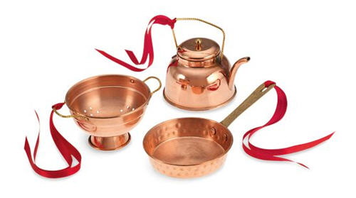 Williams-Sonoma Cook's Tools Copper Ornaments