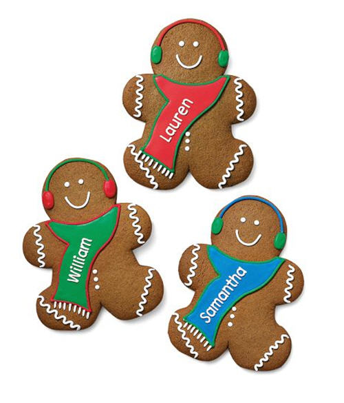 Williams-Sonoma Personalized Gingerbread Boy Cookies