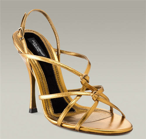 Dolce & Gabbana Strappy Sandal :  chic heels sandals shoes
