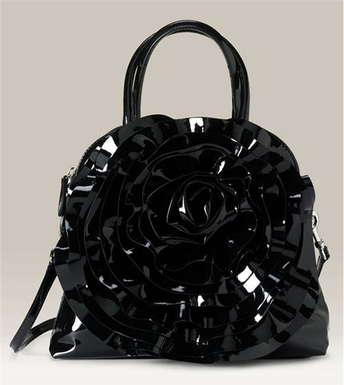 Valentino 'Petale' Patent Leather Satchel :  chic bag patent leather women
