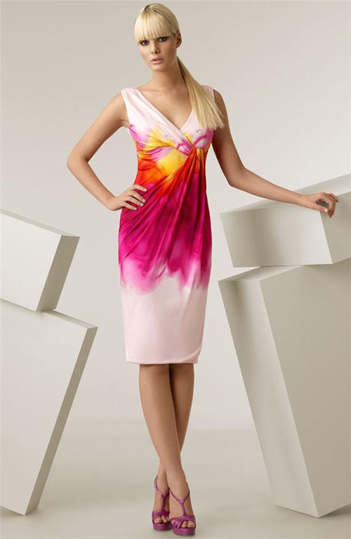 Versace Wave Print Jersey Dres