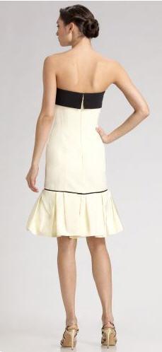 Carolina Herrera Bow-Trim Faille Dress