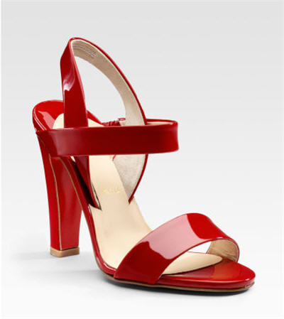 Christian Louboutin Etrier Patent Sandals :  designer accessories accessories shoes patent leather