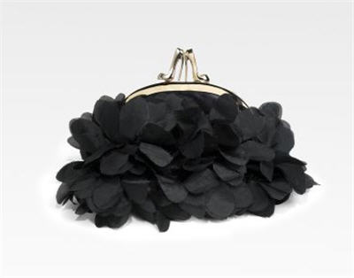 Christian Louboutin Satin Petal Bag :  luxe womens clothing women clutch