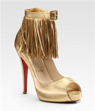 Christian Louboutin Short Tina Fringe Sandals :  luxe clothing designers women