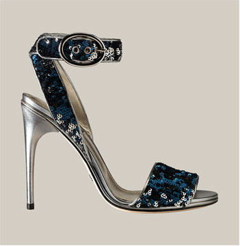 Dolce & Gabbana Strappy Paillette Sandal :  fashion accessory accessories shoes shoe