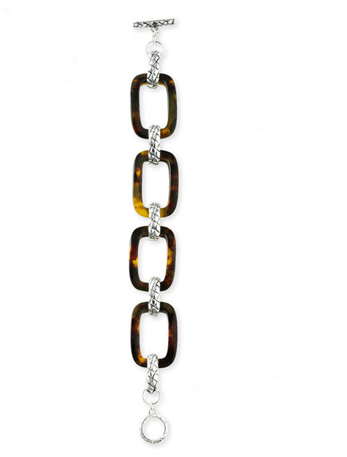 Ralph Lauren Faux Tortoiseshell Link Bracelet :  designer accessories design fashion accessories designer