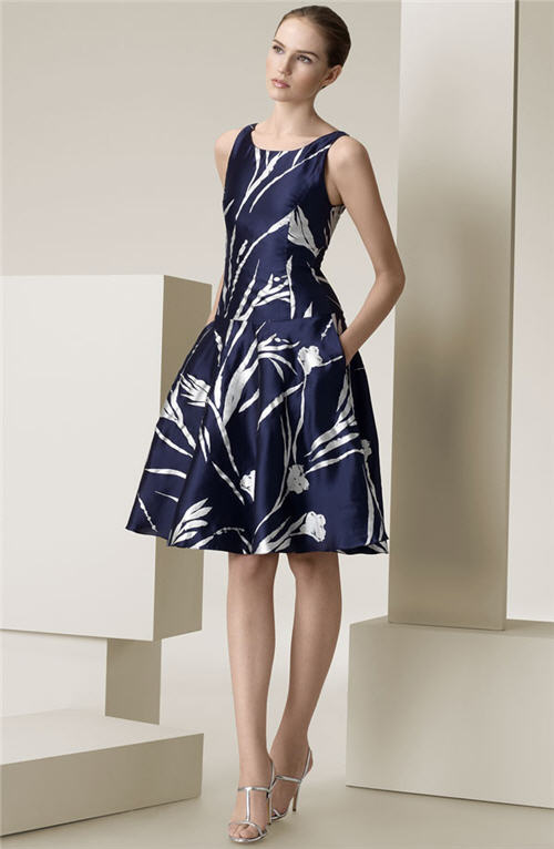 Ralph Lauren Black Label 'Jodie' Silk Mikado Dress