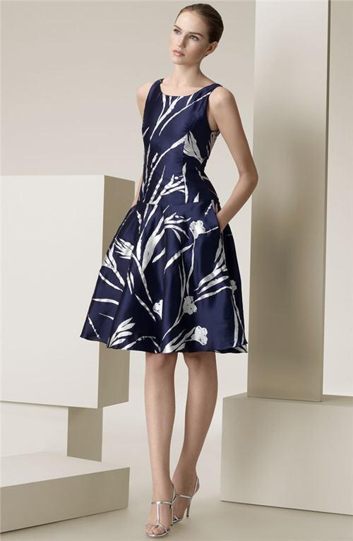 Ralph Lauren Black Label 'Jodie' Silk Mikado Dress