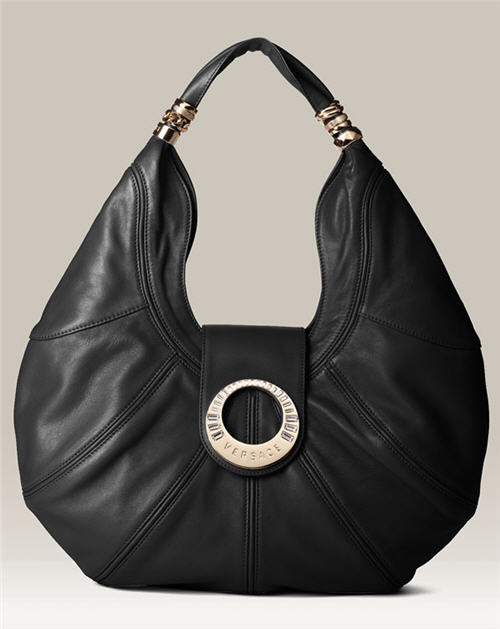Versace 'Kayla' Hobo Bag :  fashion accessory womens satchel black leather
