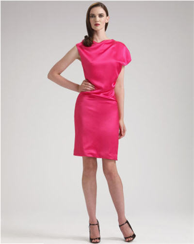 Alexander McQueen Silk Asymmetric Dress :  chic womens clothing womens designer clothing