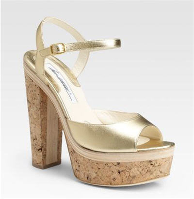Brian Atwood Open-Toe Platform Sandals :  high heels womens clothing womens designer clothing
