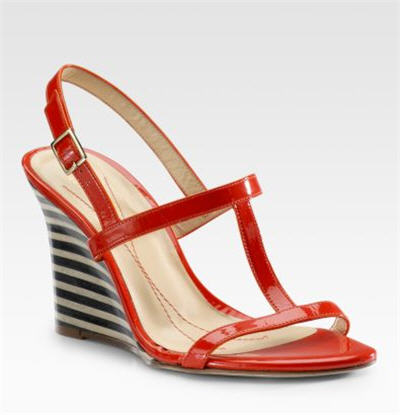 Kate Spade Lorna T-Strap Wedge Sandals