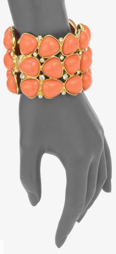kenneth-jay-lane-coral-color-hinged-bracelet-2