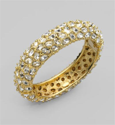 Kenneth Jay Lane Gold Pavé Bracelet :  swarovski womens clothing womens designer clothing