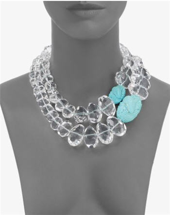 Stephen Dweck Crystal & Turquoise Necklace :  chic accessories crystal evening