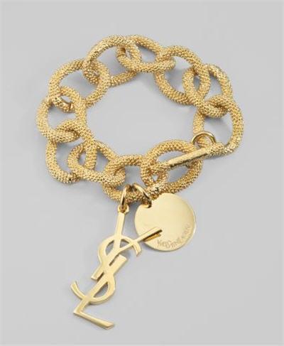 Yves Saint Laurent Logo Link Bracelet