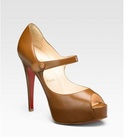 Christian Louboutin Mary Jane Peep-Toe Platforms