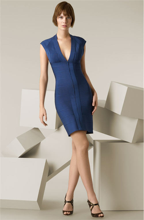 Herve Leger Open Back Dress