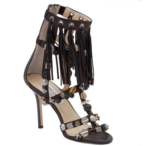 Jimmy Choo Cora Leather Sandal :  chic cocktail womens clothing womens