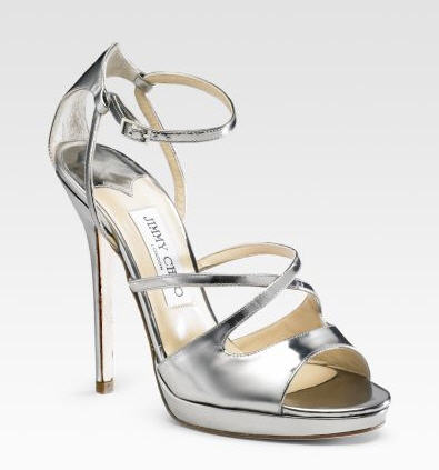 Jimmy Choo Frost Mirrored Leather Sandals :  luxe cocktail womens clothing womens