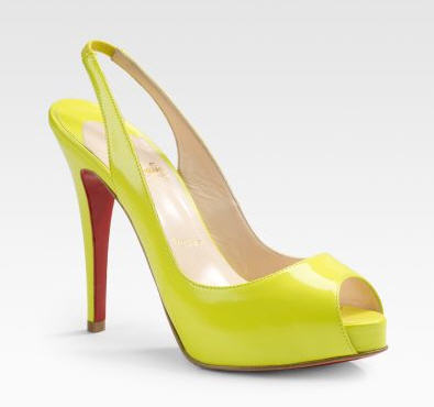 Exotic Excess - Shoe of the Day: Christian Louboutin No Prive Slingbacks