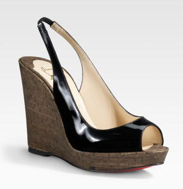 Christian Louboutin Peep-Toe Wedge Platforms :  chic designers cocktail womens