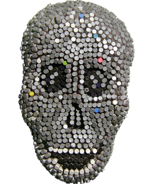crayon-skull-sculpture