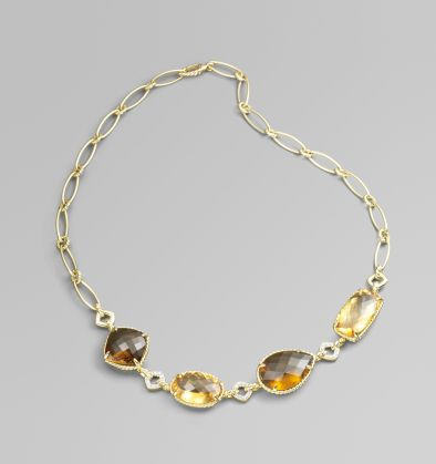 Exotic Excess - David Yurman Gold Chantelaine Necklace