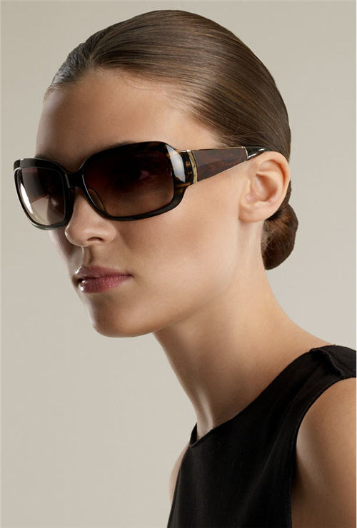 Exotic Excess - Jimmy Choo 'Trixie' Square Frame Faux Wood Temple Sunglasses