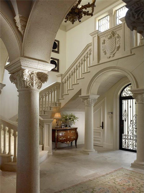 Elegant House Foyer : Estate of the day million venetian villa in palm