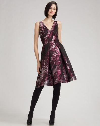 carolina-herrera-hydrangea-print-dress