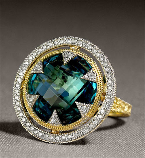 Exotic Excess -   Jude Frances Round Topaz Ring