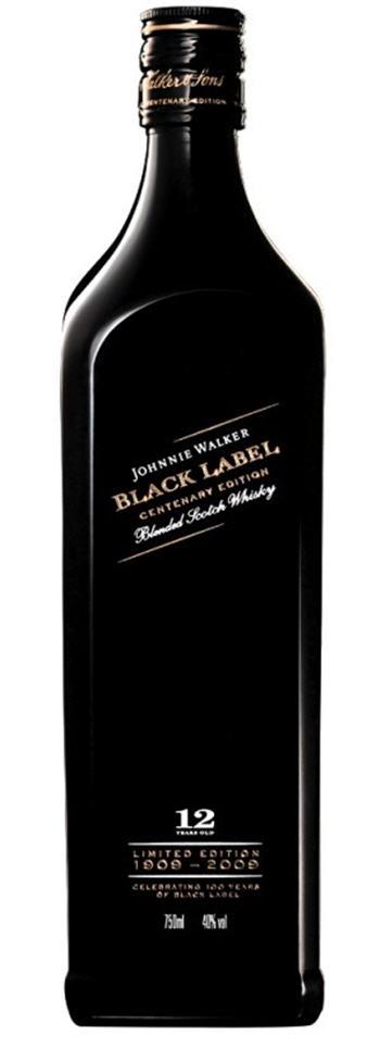 Johnnie Walker Black Label 100th Anniversary Bottle