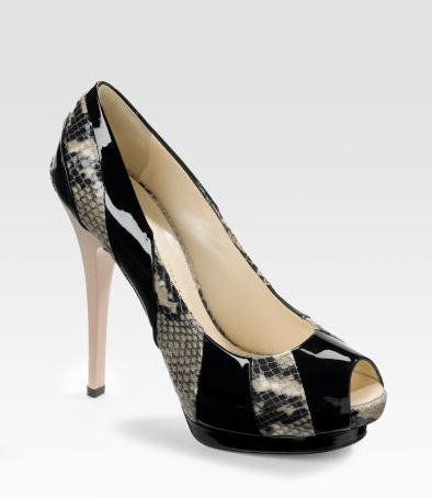 Giuseppe Zanotti Double-Platform Peep-Toe Pumps :  pumps leather women womens